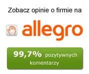99,7% pozytywnych opinii na Allegro