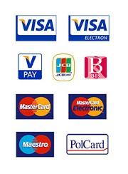 Karty płatnicze: VISA, MasterCard